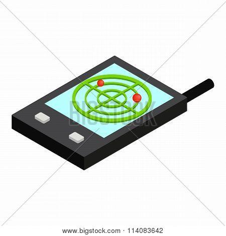 Pocket radar isometric 3d icon