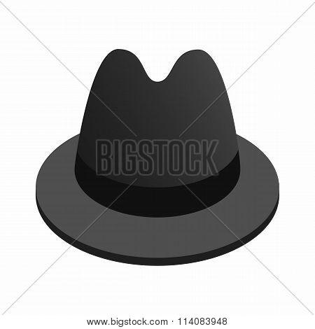 Detective hat isometric 3d icon
