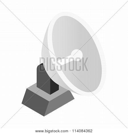 Parabolic aereal 3d isometric icon