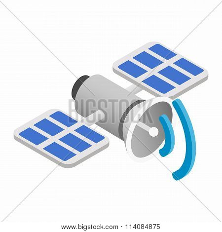 Satellite communications isometric 3d icon