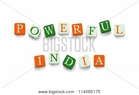 Powerful India with colorful blocks