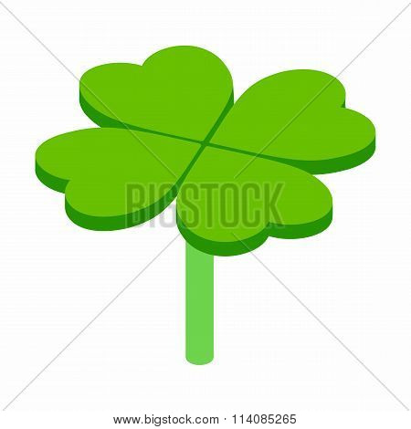 Four-leaf clover isometric 3d icon