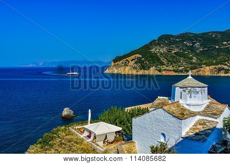 White church in Skopelos