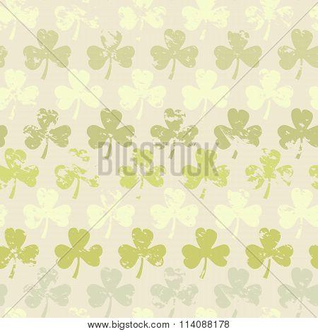 Grunge clover pattern