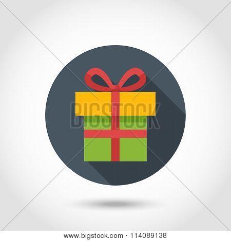 Flat Vector Present box icon