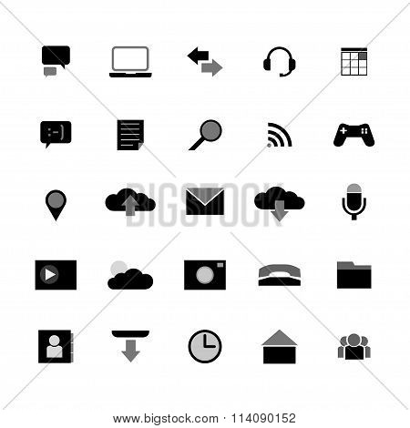 Set Of Icons In The Style Tablet S - Vector Graphic