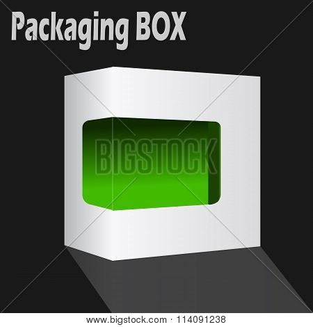 Packaging box vector.