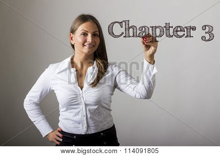 Chapter 3 - Beautiful Girl Writing On Transparent Surface