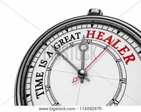 Time Is A Great Healer Red Wisdom On Concept Clock