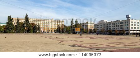 Cathedral Square in Belgorod. Russia