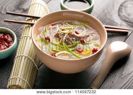Traditional Chinese Noodle Soup