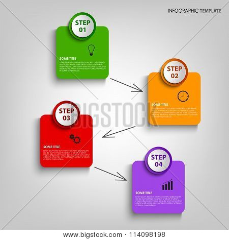 Info Graphic With Colorful Design Labels Template