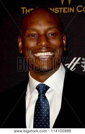 LOS ANGELES - JAN 10:  Tyrese Gibson at the Weinstein Company & Netflix 2016 Golden Globe After Party at the Beverly Hilton on January 10, 2016 in Beverly Hills, CA
