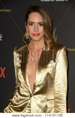 LOS ANGELES - JAN 10:  Louise Roe at the Weinstein Company & Netflix 2016 Golden Globe After Party at the Beverly Hilton on January 10, 2016 in Beverly Hills, CA