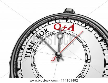 Questions And Answers  Motivation Message On Concept Clock