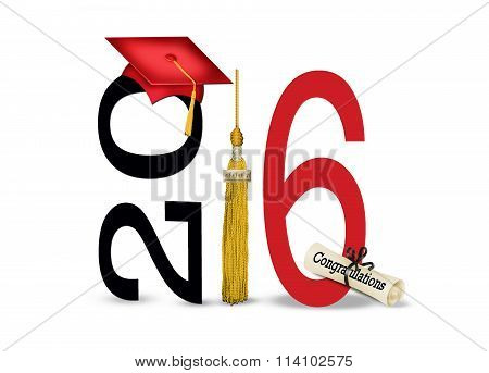 graduation  2016 cap and tassel