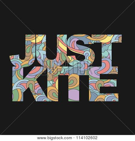 Surfer   typography, kite surf t-shirt graphics, vectors