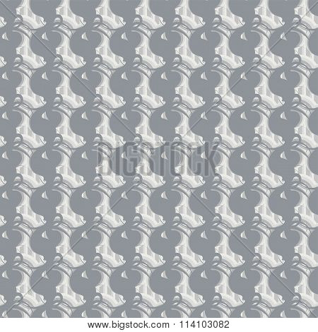 Seamless Vector Illustration With Gray Swirls And Stripes On The Background.