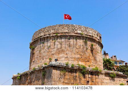 Old fort in Antalya, Turkey -  architecture background