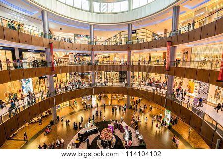 Dubai - AUGUST 7, 2014: Dubal Mall shopping mall on August 7 in