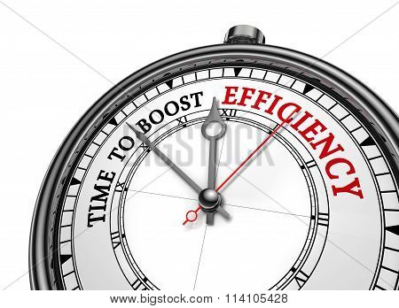 Time To Boost Efficiency Motivation On Concept Clock