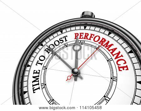 Time To Boost Performance Motivation On Concept Clock