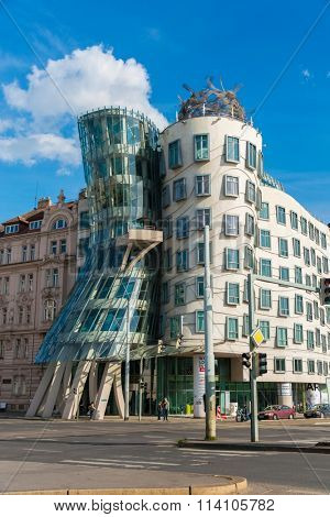 Prague - MAY 9, 2014: Dancing House on May 9 in Prague, Chech Re