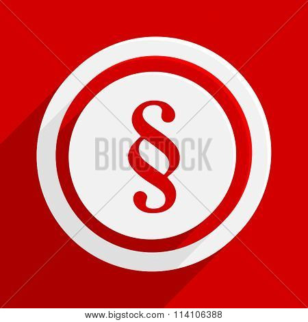paragraph red flat design modern vector icon for web and mobile app
