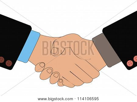 Handshake of business people as a result of transaction