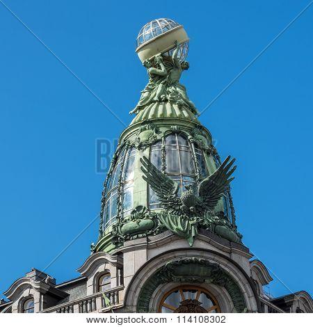 Historic Singer Company Building, At Present The House Of Books On Nevsky Prospekt, St. Petersburg,
