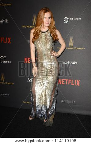 LOS ANGELES - JAN 10:  Bella Thorne at the Weinstein Company & Netflix 2016 Golden Globe After Party at the Beverly Hilton on January 10, 2016 in Beverly Hills, CA