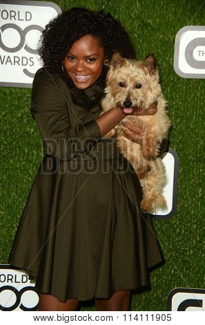 LOS ANGELES - JAN 9:  Shanice Williams at the The CW World Dog Awards at the Barker Hanger on January 9, 2016 in Santa Monica, CA