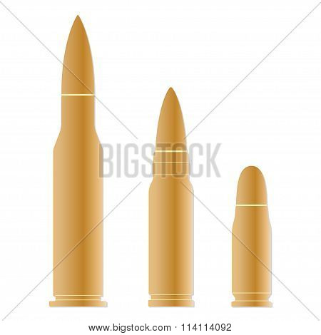 Bullet icons set isolated on white background. Vector illustration of different bullets.