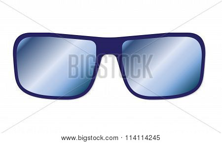 Sunglasses isolated on white background. Vector illustration.