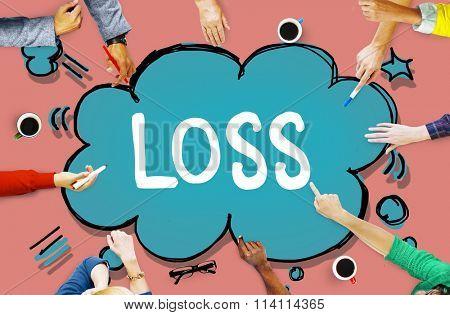 Loss Recession Deduction Financial Crisis Concept