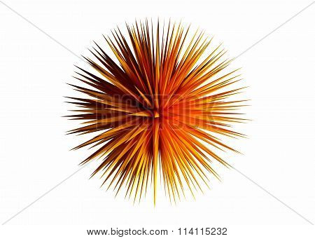 Rendered Design Element Abstract 3D Sharp Object On The White Background