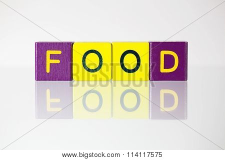Food - An Inscription From Children's Blocks