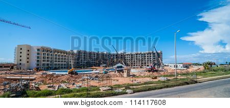 Construction of new hotel and resort.