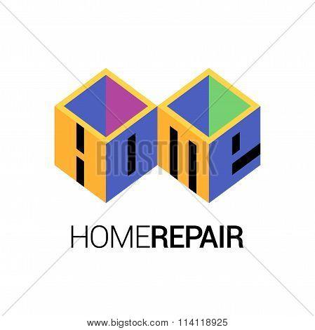 Home repair vector template logotype