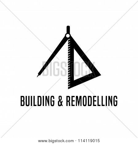 House building and remodeling vector  logotype