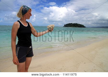 Girl with the coral