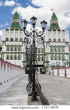 Tolba Lantern In Front Of The Izmailovo Kremlin