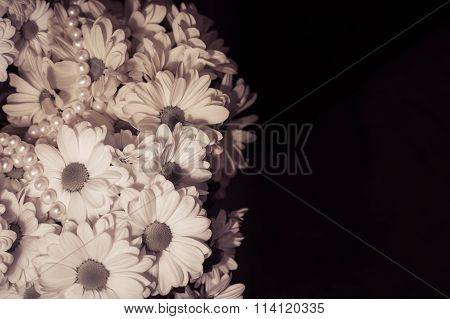 Bouquet Of White And Yellow Chrysanthemum