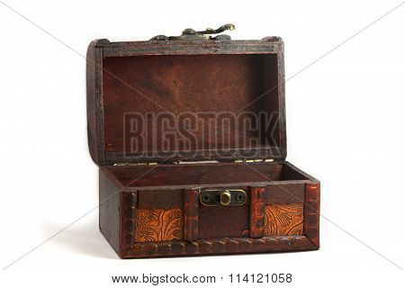 Chest box isolated on white