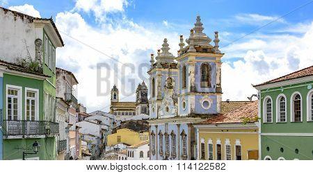 Facades of the Pelourinho in Salvador