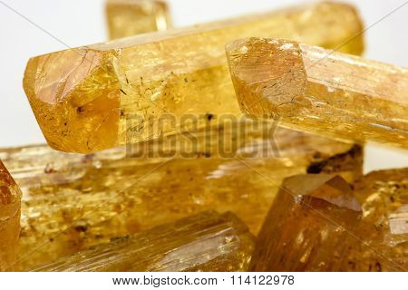 Imperial topaz crystals
