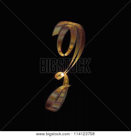 Letter Z In Gold