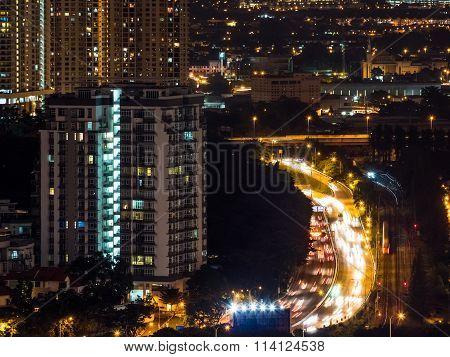 Kuala Lumpur Night Traffic