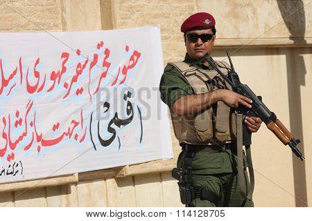 Kurdish Soldier in North Iraq