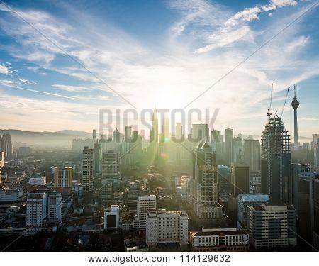 Kuala Lumpur Skyline Sunrise View